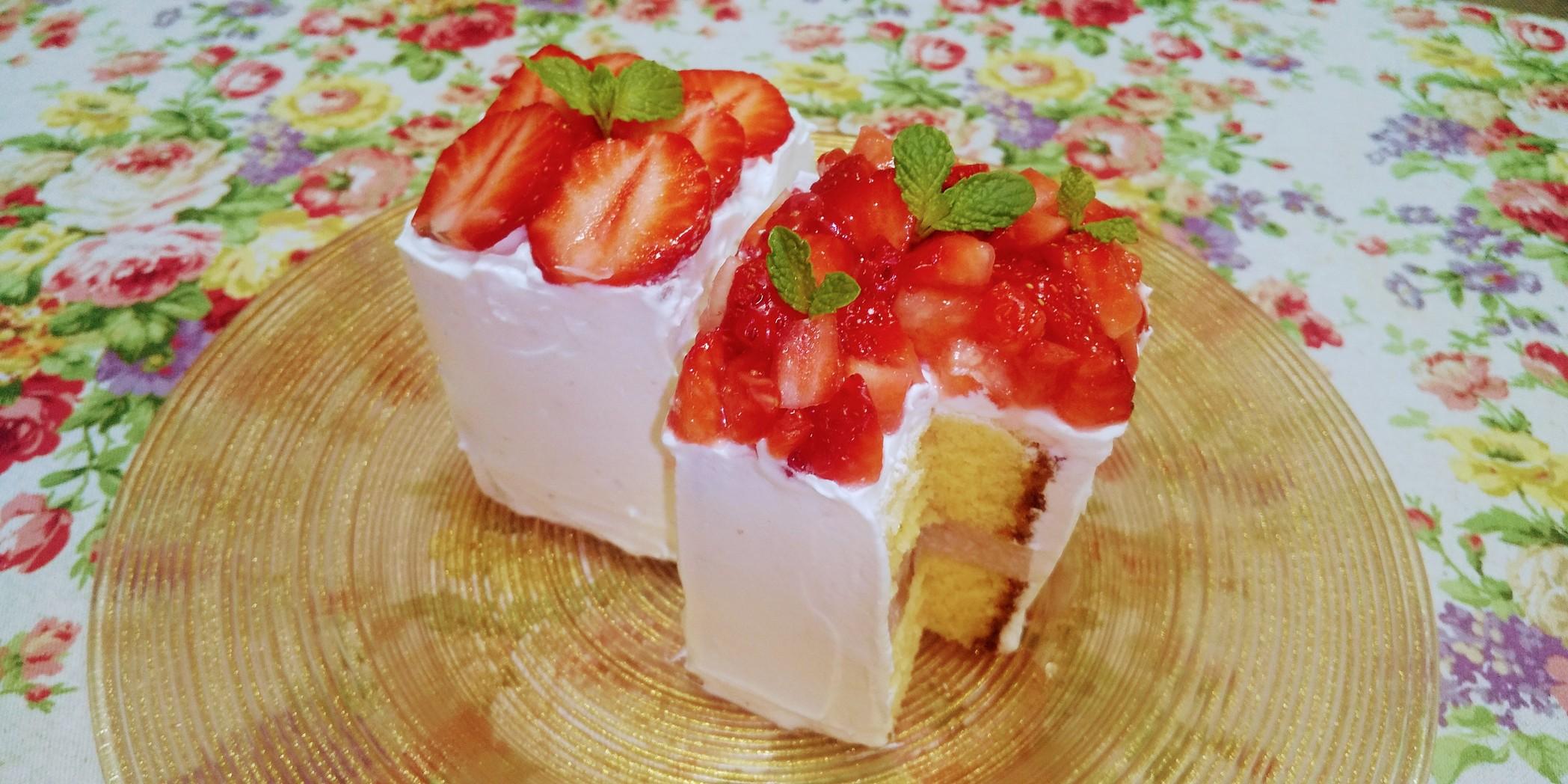 カステラdeショートケーキ