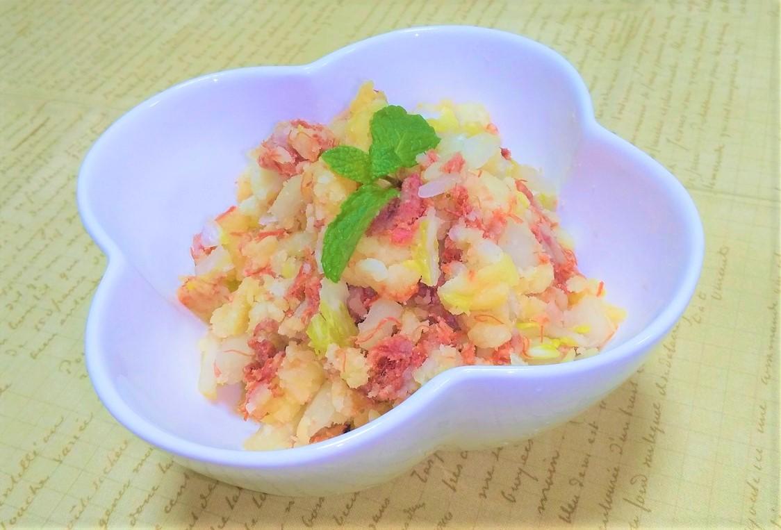 コンビーフ&白菜のホットポテサラ