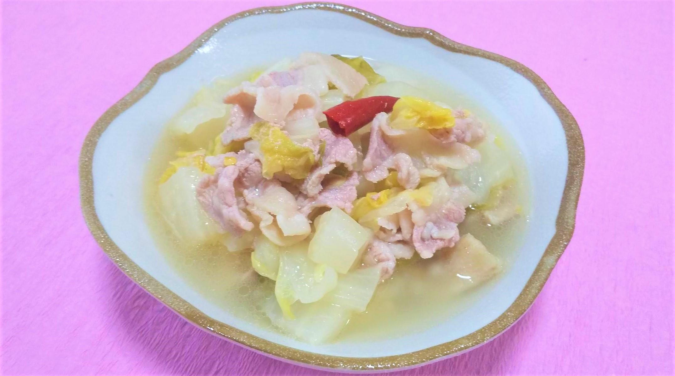 超簡単!白菜漬けと豚バラのうま煮
