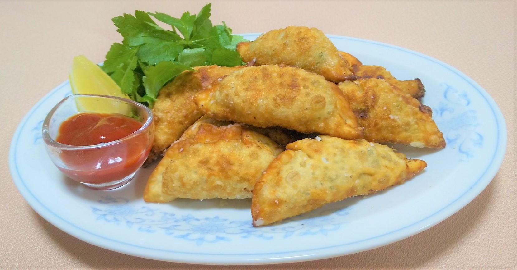 ツナと納豆のパリパリ餃子