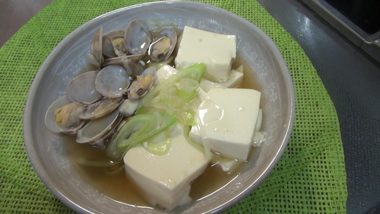 豆腐とあさりのうま煮
